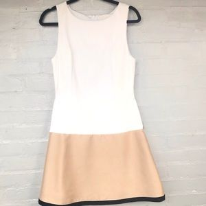 Anthropologie Maeve white and gold dress sz 8